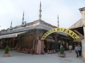 Entering the Arasta Bazzar